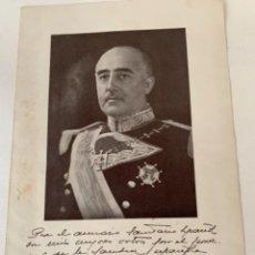 Collectionnisme Papier divers: DEDICATORIA DE FRANCO PARA EL ANUARIO SANITARIO ESPAÑOL, 1946. Lote 242348610