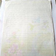Coleccionismo Papel Varios: HOJAS DE CAMBIAR CON OLOR PAPEL CARTAS Y SOBRES DE CAMBIO PERFUMADOS PÁJARO Y FLORES. Lote 243005045