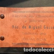 Coleccionismo Papel Varios: LIBRETA NOTAS - FABRICA DE GASEOSAS Y SIFONES VDA. DE MIGUEL GASSOL (IGUALADA). Lote 243448325