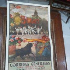 Coleccionismo Papel Varios: CARTEL DE TOROS BILBAO 1955. Lote 243871560