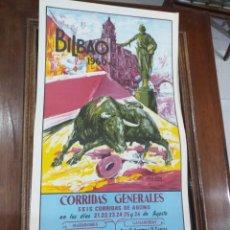Coleccionismo Papel Varios: CARTEL DE TOROS BILBAO 1960. Lote 243878050