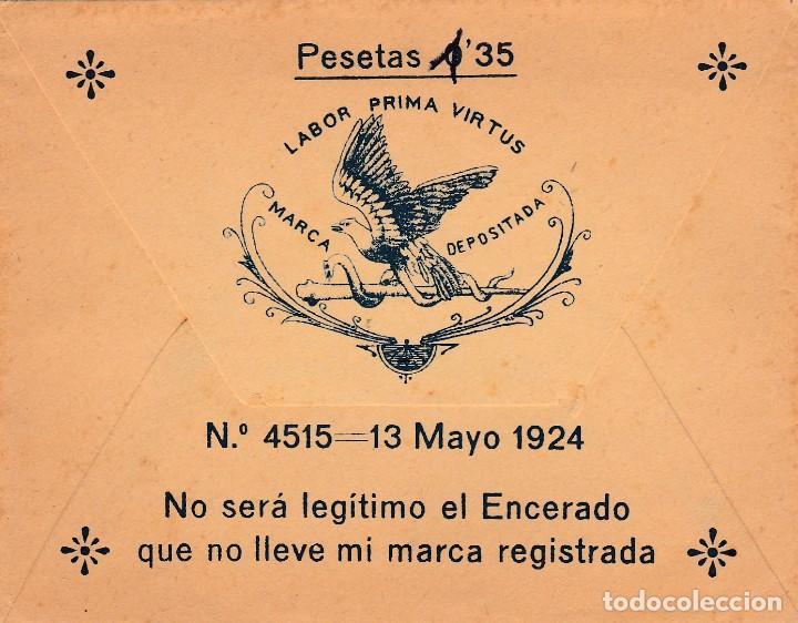 Coleccionismo Papel Varios: PARCHE ENCERADO SALUD - BALSAMICO - AFECCIONES PECHO NIÑOS LABOR CLAUDIO MARTI - VALENCIA -VER FOTOS - Foto 2 - 243926455