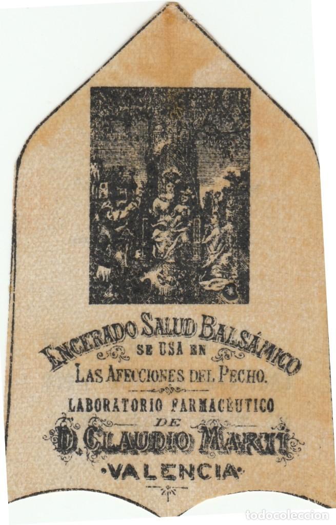 Coleccionismo Papel Varios: PARCHE ENCERADO SALUD - BALSAMICO - AFECCIONES PECHO NIÑOS LABOR CLAUDIO MARTI - VALENCIA -VER FOTOS - Foto 3 - 243926455