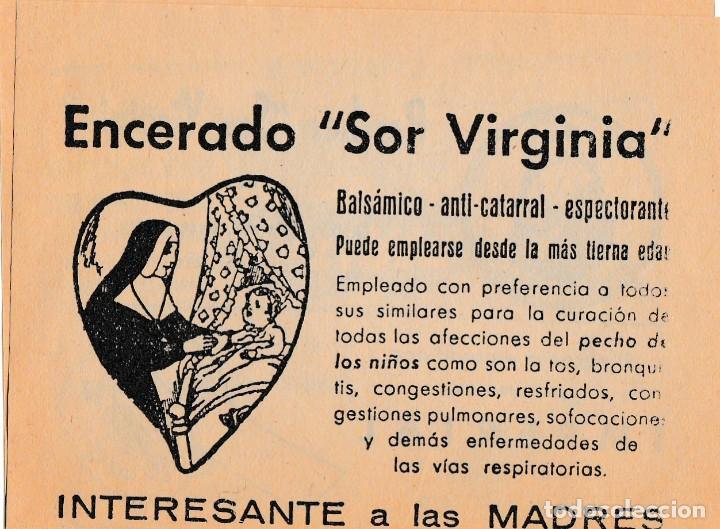 Coleccionismo Papel Varios: PARCHE ENCERADO SOR VIRGINIA - BALSAMICO ANTICATARRAL LABO UNITEX MATARO - FARMCO M ENRICH VER FOTOS - Foto 3 - 243928075
