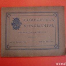 Coleccionismo Papel Varios: COMPOSTELA MONUMENTAL SELECCION ARTISTICA 18 MONUMENTOS POR ROMAN LOPEZ Y LOPEZ. Lote 244442340