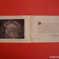 Coleccionismo Papel Varios: DISTINGUIDO CON LLEVAR EL PENDON PRINCIPAL DE LA PROCENSION MANRESA AGOSTO 1950 22 X 16 CM.. Lote 244443340