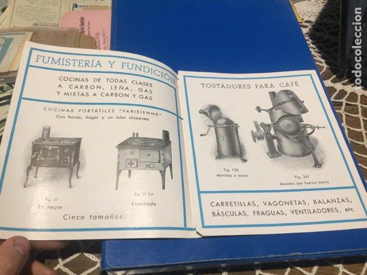 Coleccionismo Papel Varios: Antiguos folleto / prospecto de Fumistería y fundición José Cañameras S.A. años 20-30 Barcelona - Foto 3 - 244449125