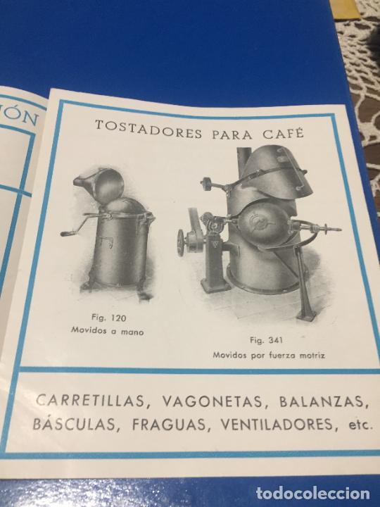 Coleccionismo Papel Varios: Antiguos folleto / prospecto de Fumistería y fundición José Cañameras S.A. años 20-30 Barcelona - Foto 4 - 244449125