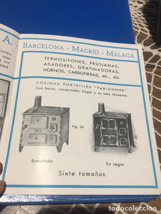 Coleccionismo Papel Varios: Antiguos folleto / prospecto de Fumistería y fundición José Cañameras S.A. años 20-30 Barcelona - Foto 5 - 244449125
