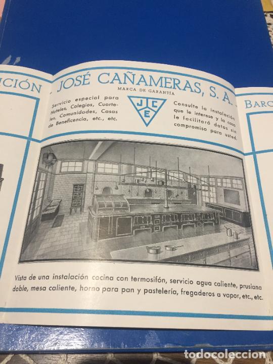 Coleccionismo Papel Varios: Antiguos folleto / prospecto de Fumistería y fundición José Cañameras S.A. años 20-30 Barcelona - Foto 6 - 244449125