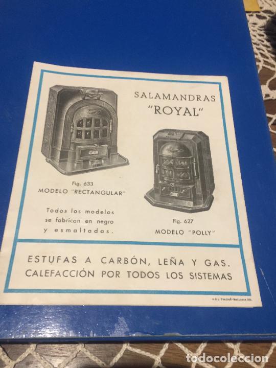 Coleccionismo Papel Varios: Antiguos folleto / prospecto de Fumistería y fundición José Cañameras S.A. años 20-30 Barcelona - Foto 7 - 244449125