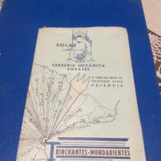 Coleccionismo Papel Varios: ANTIGUOS FOLLETO / CATALOGO SERRERIA MECANICA ENVASES TRINCHANTES MONDADIENTES AÑOS 20-30 VALENCIA. Lote 244449455