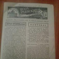 Coleccionismo Papel Varios: HOJA PARROQUIAL AÑO XXXIX VIC 1950. Lote 244830735