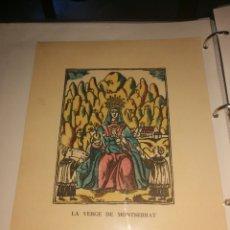 Altri oggetti di carta: LA VERGE DE. MONTSERRAT DIBUJO ANTIGUO. Lote 244833075