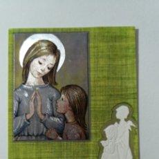 Coleccionismo Papel Varios: TARJETA ILUSTRADA RELIGIOSA NAVIDAD COMUNIÓN NIÑO JESÚS DIOS ÁNGEL - ORTIZ MADRID R457 - 61 X 101 MM. Lote 244866755