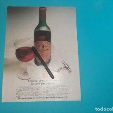 Coleccionismo Papel Varios: DON JACOBO - VINO -PUBLICIDAD AÑO 1975 - 34 X 26 CM - RECORTE REVISTA -. Lote 245110695