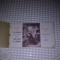 Coleccionismo Papel Varios: RECUERDO III CENTENARIO MUERTE BEATA JUANA DE LESTONNAC. 1940. Lote 245502195