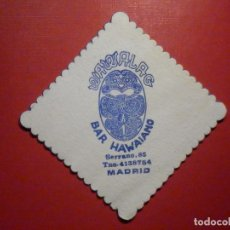 Coleccionismo Papel Varios: POSAVASOS PUB BAR - WAWALAG - BAR HAWAIANO - SERRANO, 85 - MADRID -. Lote 246135705