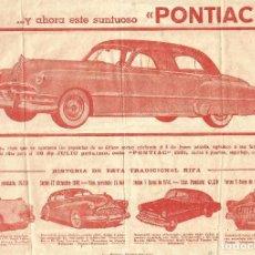 Coleccionismo Papel Varios: TETUAN 1951 CARTELITO LOCAL FUTBOL EL CLUB ATLETICO RIFA COCHE PONTIAC SEDAN IMP MARTINEZ TETUAN. Lote 246238035