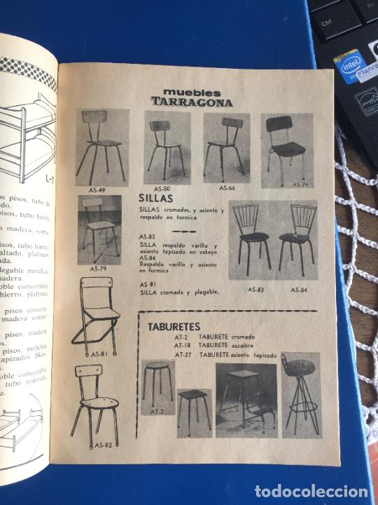 Coleccionismo Papel Varios: Antiguo folleto / propaganda muebles Tarragona catalogo muebles varios años 60- 70 - Foto 4 - 246548265