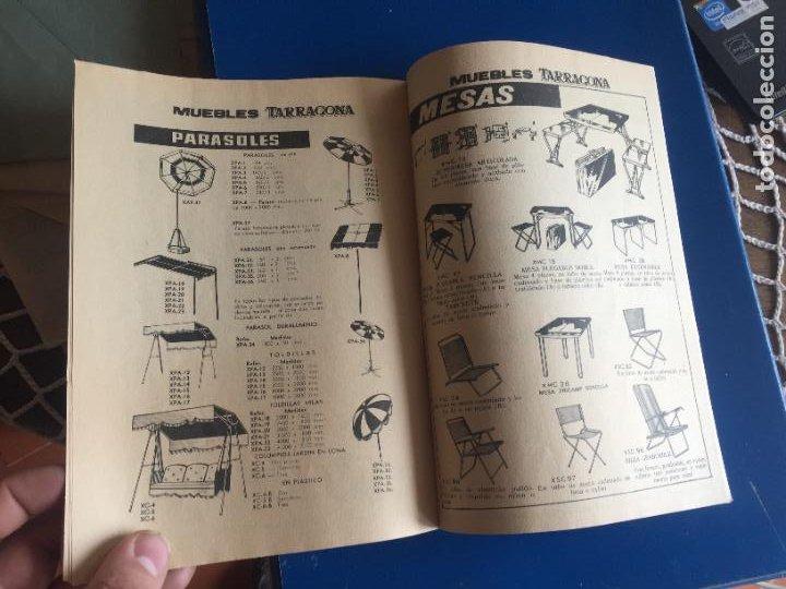 Coleccionismo Papel Varios: Antiguo folleto / propaganda muebles Tarragona catalogo muebles varios años 60- 70 - Foto 5 - 246548265