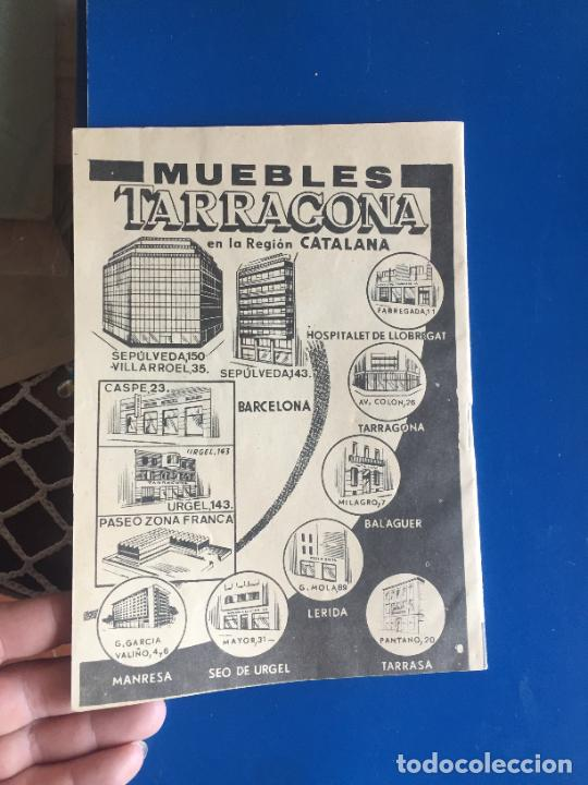 Coleccionismo Papel Varios: Antiguo folleto / propaganda muebles Tarragona catalogo muebles varios años 60- 70 - Foto 6 - 246548265