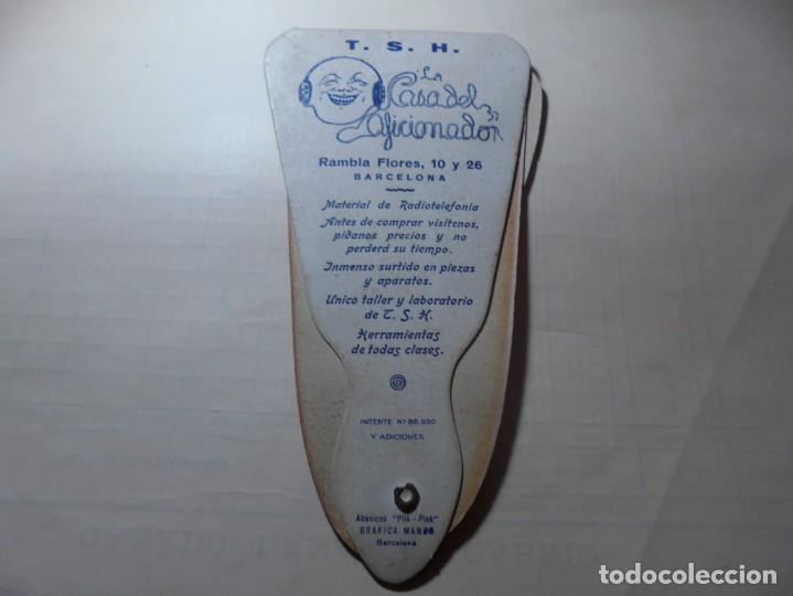 Coleccionismo Papel Varios: magnifico antiguo abanico pay pay antiguo t.s.h.material de radiotelefonia,sobre los años 1920-30 - Foto 6 - 247619885