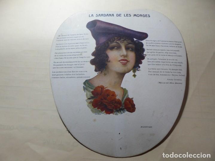 MAGNIFICO ANTIGUO ABANICO PAY PAY LA ZARAGOZANA VINS,LICORS,XAMPANY, MIGUEL ALEGRET, AÑOS 1920-30 (Coleccionismo en Papel - Varios)