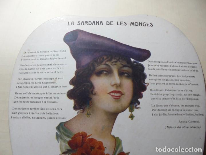 Coleccionismo Papel Varios: magnifico antiguo abanico pay pay la zaragozana vins,licors,xampany, miguel alegret, años 1920-30 - Foto 2 - 247621790