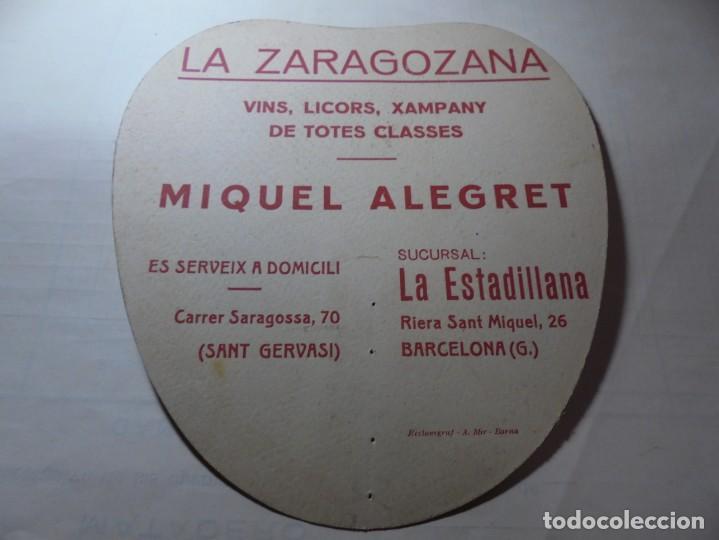 Coleccionismo Papel Varios: magnifico antiguo abanico pay pay la zaragozana vins,licors,xampany, miguel alegret, años 1920-30 - Foto 3 - 247621790