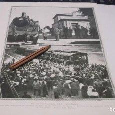 Coleccionismo Papel Varios: RECORTE AÑO 1930 - CANFRANC(HUESCA)INAGURACION TREN A JACA.ATRAS SAN SEBASTIAN,PRESIDENTE ARGENTINA. Lote 247675770