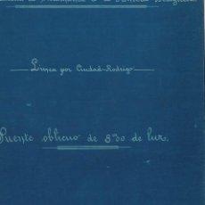 Altri oggetti di carta: FERROCARRIL, PLANO EN FERROPRUSIATO, PUENTE OBLICUO DE 8,00 M. Lote 248982535