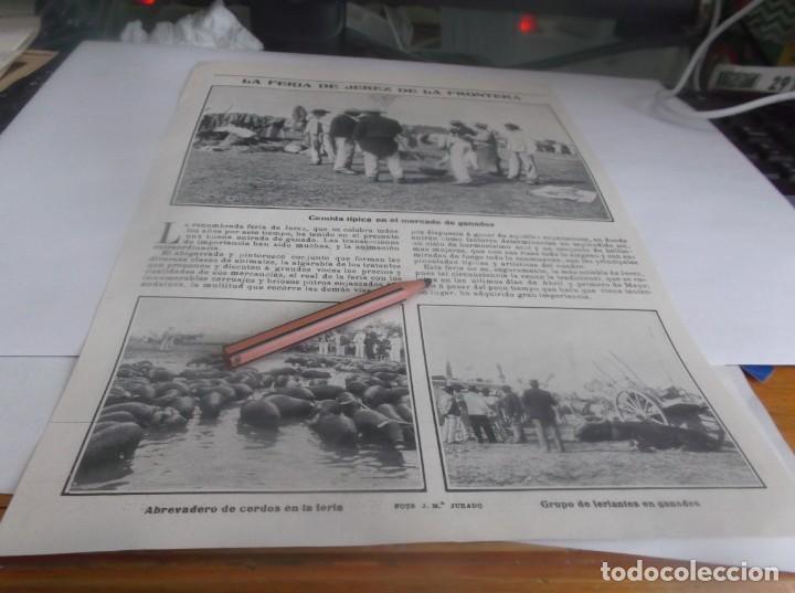 RECORTE AÑO 1905 - JEREZ(CÁDIZ)LA FERIA DE JEREZ.ATRAS BANDA MUNICIPAL VALENCIA,SENADORES MADRID (Coleccionismo en Papel - Varios)