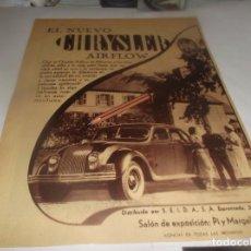 Coleccionismo Papel Varios: RECORTE PUBLICIDAD AÑO 1934 - EL NUEVO AUTOMOVIL CHRYSLER AIRFLOW. Lote 252064330
