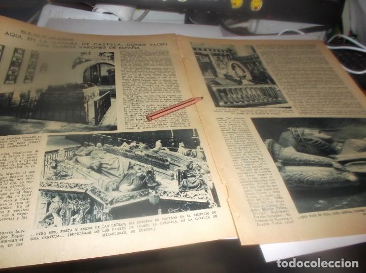 RECORTE AÑO 1934 - AQUI,EN LLANURA DE CASTILLA ,DONDE YACEN VARONES DE ESPAÑA,EL MIO CID,DOÑA JIMENA (Coleccionismo en Papel - Varios)