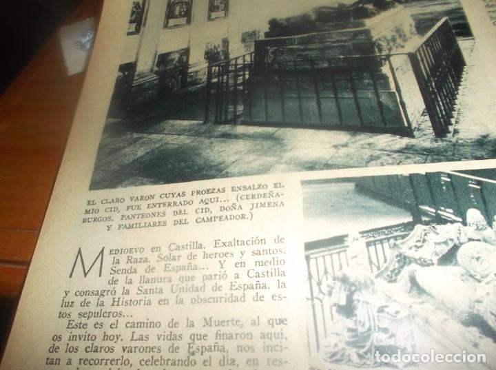 Coleccionismo Papel Varios: RECORTE AÑO 1934 - AQUI,EN LLANURA DE CASTILLA ,DONDE YACEN VARONES DE ESPAÑA,EL MIO CID,DOÑA JIMENA - Foto 3 - 252141835