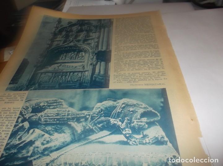 Coleccionismo Papel Varios: RECORTE AÑO 1934 - AQUI,EN LLANURA DE CASTILLA ,DONDE YACEN VARONES DE ESPAÑA,EL MIO CID,DOÑA JIMENA - Foto 4 - 252141835