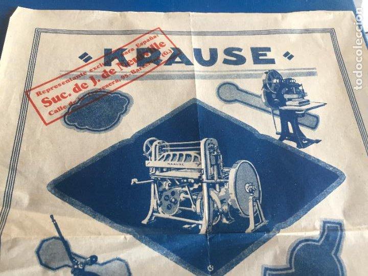 Coleccionismo Papel Varios: Antigua folleto / prospecto Máquinas para Troquelar Karl Krause A. G. Leipzig años 20-30 - Foto 2 - 252596745