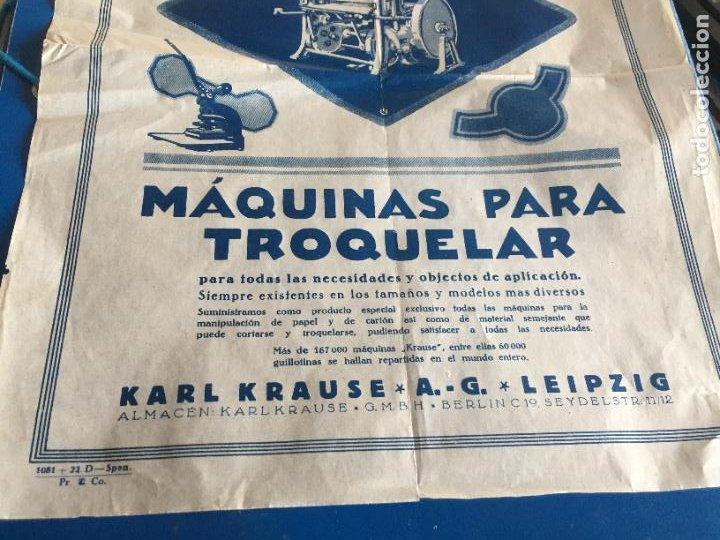 Coleccionismo Papel Varios: Antigua folleto / prospecto Máquinas para Troquelar Karl Krause A. G. Leipzig años 20-30 - Foto 3 - 252596745