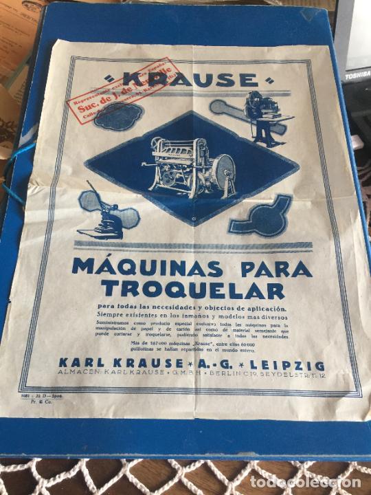 ANTIGUA FOLLETO / PROSPECTO MÁQUINAS PARA TROQUELAR KARL KRAUSE A. G. LEIPZIG AÑOS 20-30 (Coleccionismo en Papel - Varios)