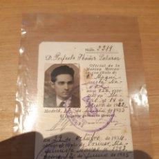 Coleccionismo Papel Varios: CARNET OFICIAL DE LA MARINA MERCANTE 1935. Lote 253279665