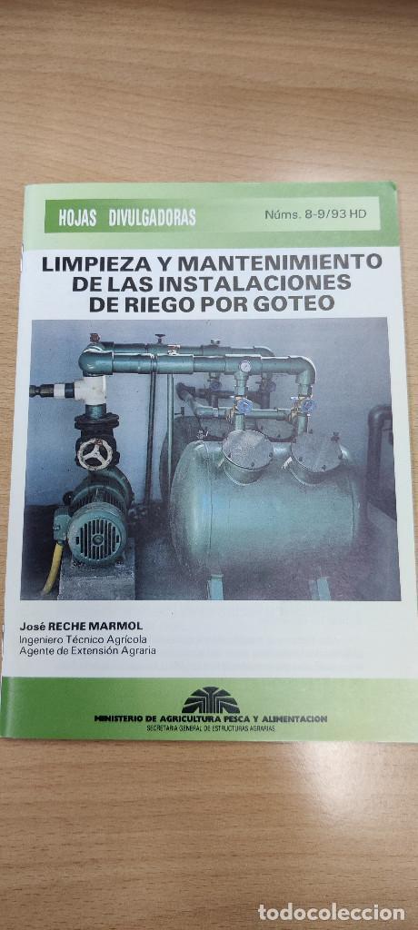 LIMPIEZA Y MANTENIMIENTO DE LAS INSTALACIONES DE RIEGO POR GOTEO. HOJAS DIVULGADROAS NÚM. 8-9/93 HD (Coleccionismo en Papel - Varios)