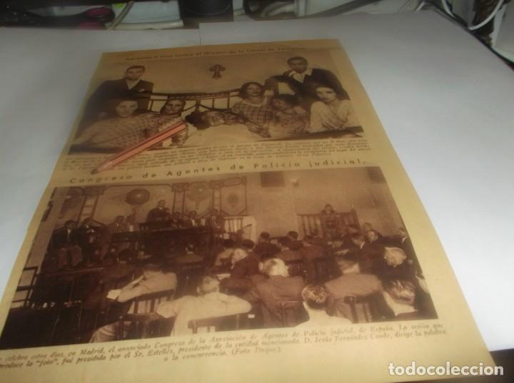 RECORTE AÑO 1934.(ZARAGOZA)FORENCIO PALOMEQUE DIRECTO CARCEL FUE TIROTEADO.ATRAS AUTOMOVIL RENAULT (Coleccionismo en Papel - Varios)