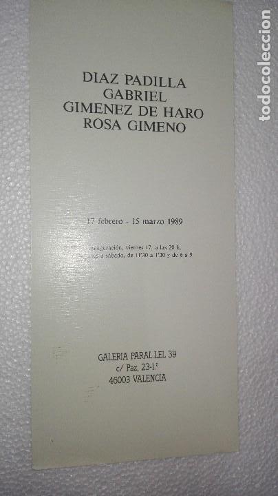 Coleccionismo Papel Varios: FOLLETO DE EXPOSICIÓN DE JAIME GIMÉNEZ DE HARO - Foto 4 - 253577310