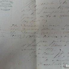 Coleccionismo Papel Varios: GUERRA CARLISTA CARLISTAS CARLISMO SUMINISTROS CORREO NAVARRA. Lote 253798715