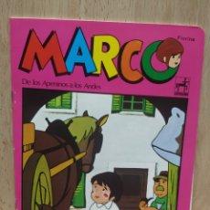Coleccionismo Papel Varios: LIBRETA CUADERNO SERIE DE DIBUJOS MARCO TOTALMENTE NUEVA CON ERROR DE CORTE MARCA CENTAURO 1977. Lote 253983520