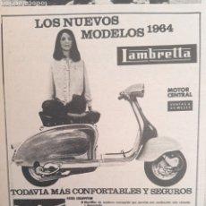 Altri oggetti di carta: PUBLICIDAD MOTO LAMBRETTA DE 1964. Lote 254476455