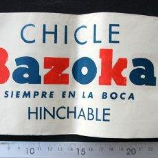 """Coleccionismo Papel Varios: ANTIGUO SOMBRERO (GORRO, GORRA) DE PAPEL CON PUBLICIDAD DE """"CHICLE BAZOKA"""". Lote 254646995"""