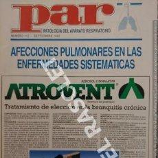 Coleccionismo Papel Varios: ANTIGÜA REVISTA PAR - PATOLOGIA DEL APARATO RESPIRATORIO - Nº 112 - SEPTIEMBRE 1992. Lote 254759730