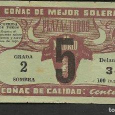 Coleccionismo Papel Varios: ENTRADA PLAZA DE TOROS DE MADRID. GRADA 2 SOMBRA. DELANTERA 34. 100 PESETAS. (P/D51). Lote 254949165